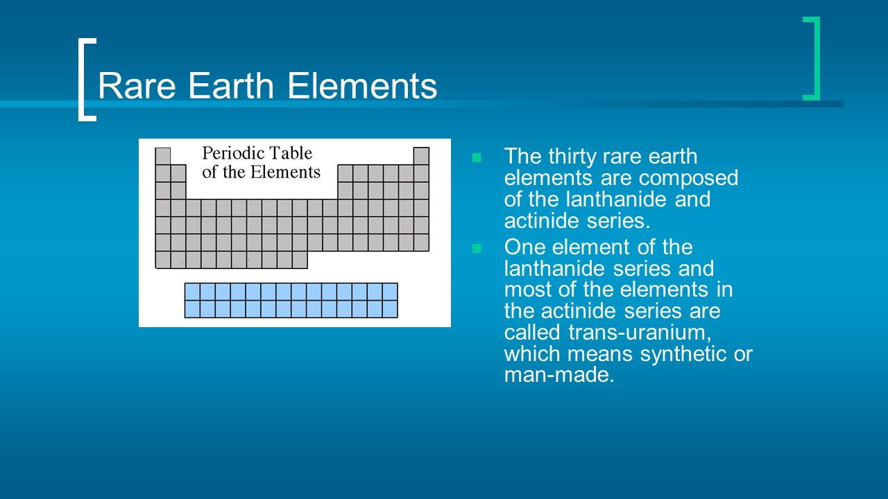 Atoms in the periodic table ppt video online download 63 rare earth elements the thirty rare earth elements are composed of the lanthanide and actinide series one element of the lanthanide series and most of gamestrikefo Images