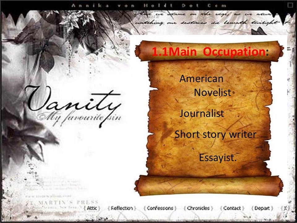 Short story writer American