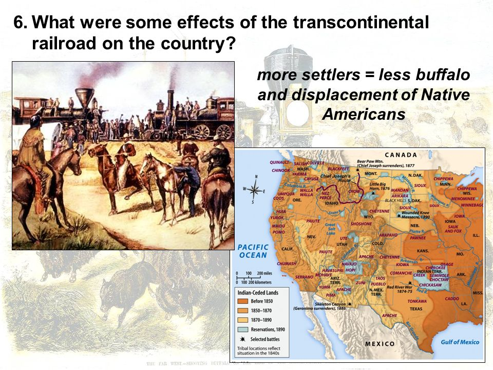 Native Americans and the transcontinental railroad?