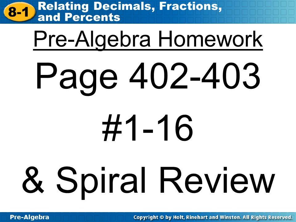 Fraction Homework