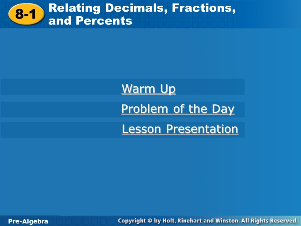 Problem Solving In Decimals