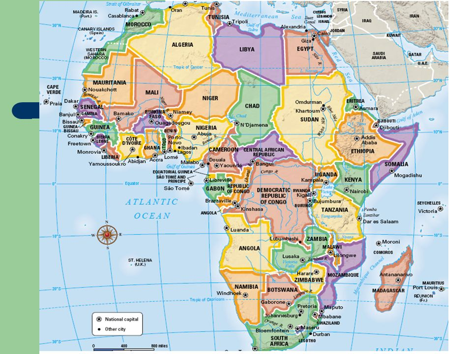 SubSaharan Africa Countries For Tuesdays Political Map Quiz - Africa map countries