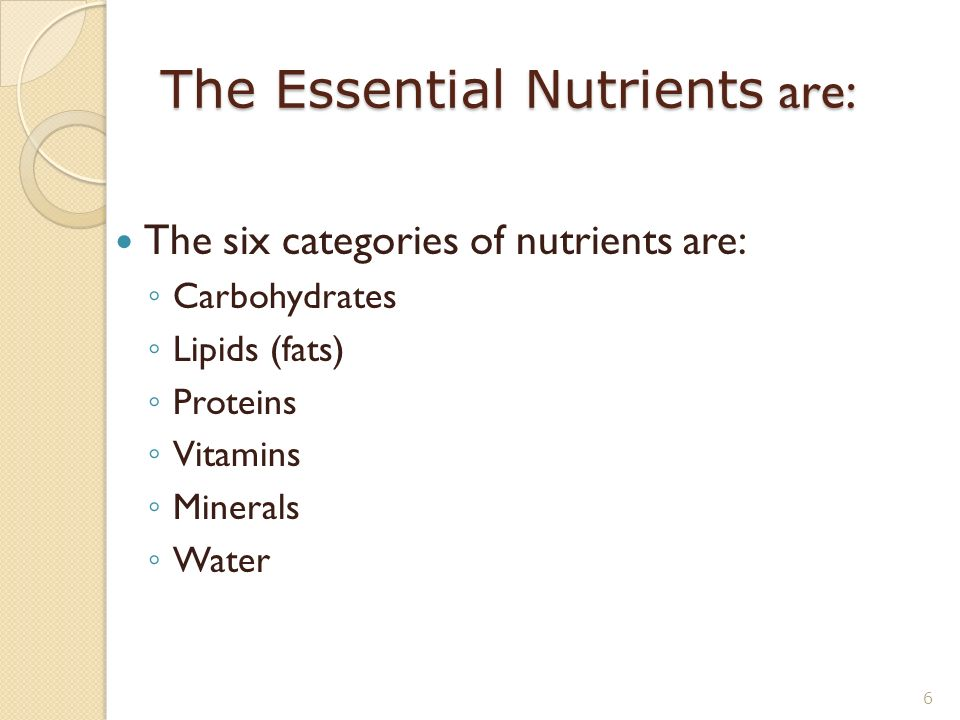 six major classes of nutrients Carbohydrates - there is alot of talk about carbs but they too are important in the definition of nutrients carbohydrates include sugars, starches, celluloses and gums.
