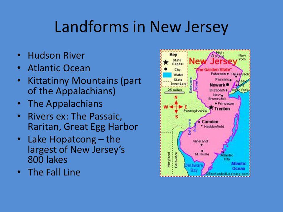 Landforms In The MidAtlantic Region Of The US Overview Of - Us mid atlantic region map