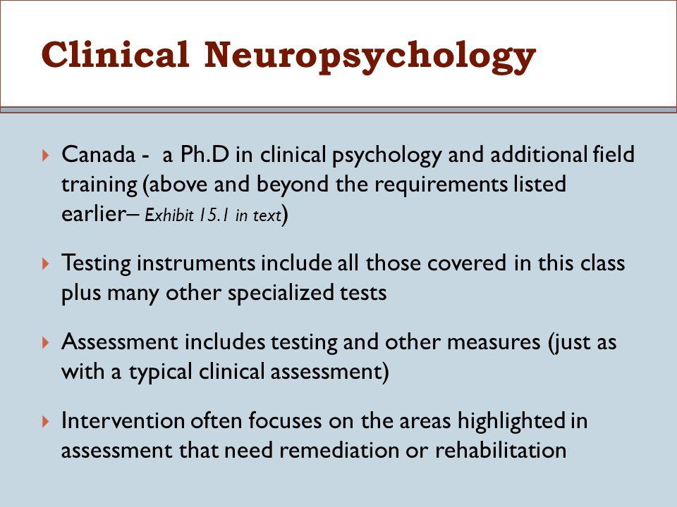 Clinical Psychology Psyd Programs Canada
