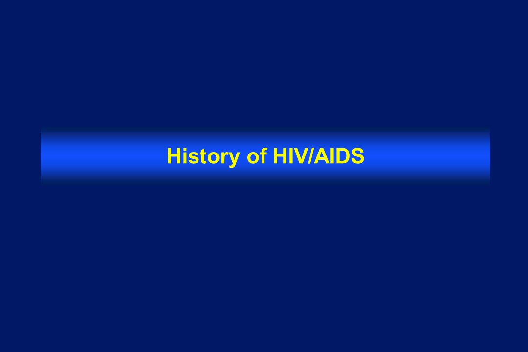 History of HIV/AIDS