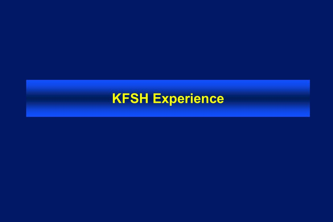 KFSH Experience