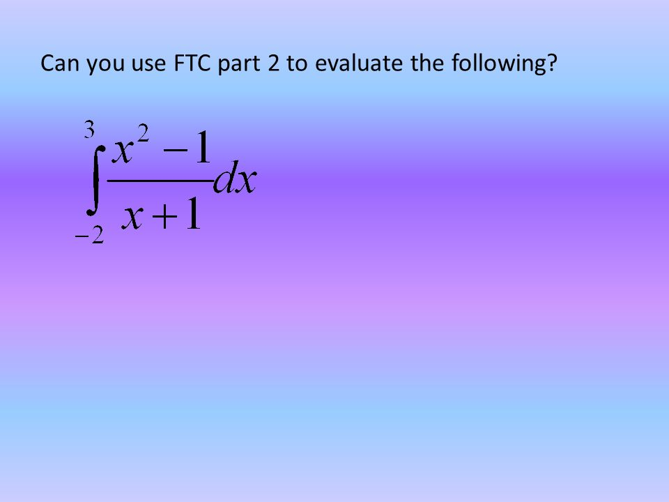 Can you use FTC part 2 to evaluate the following