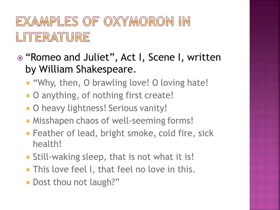 Definition Oxymoron Plural Oxymora Is A Figure Of Speech In Which
