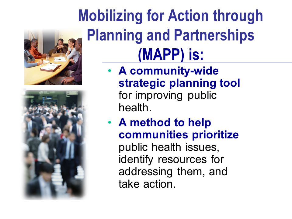 Mobilizing For Action Through Planning And Partnerships