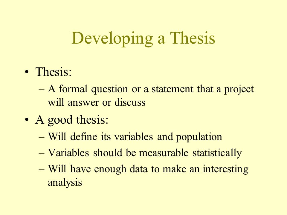 developing a thesis question Learn develop a thesis with free interactive flashcards choose from 500 different sets of develop a thesis flashcards on quizlet.