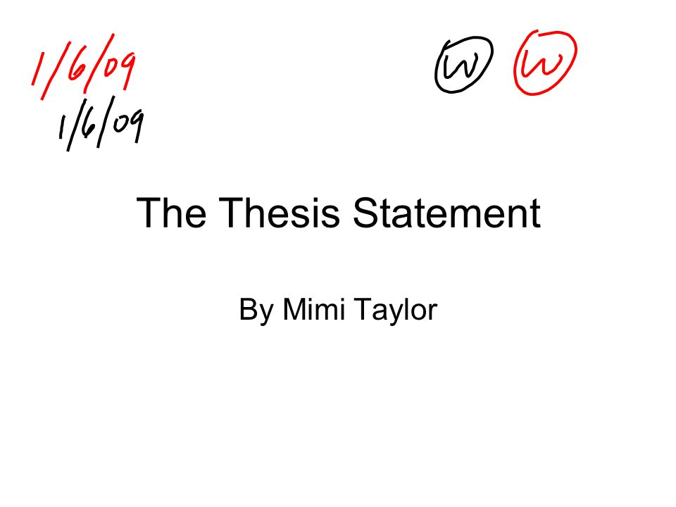 What would be a good thesis statement for a term paper on
