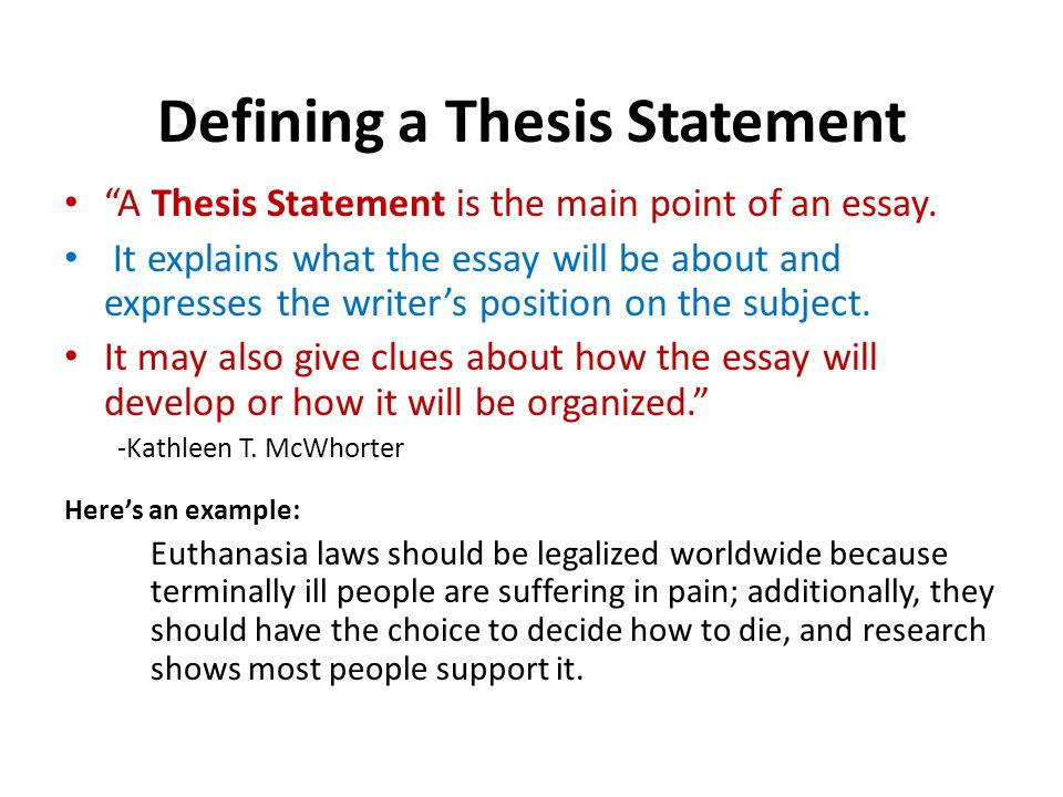 developing a thesis creating an outline what is a thesis defining a thesis statement a thesis statement is the main point of an essay