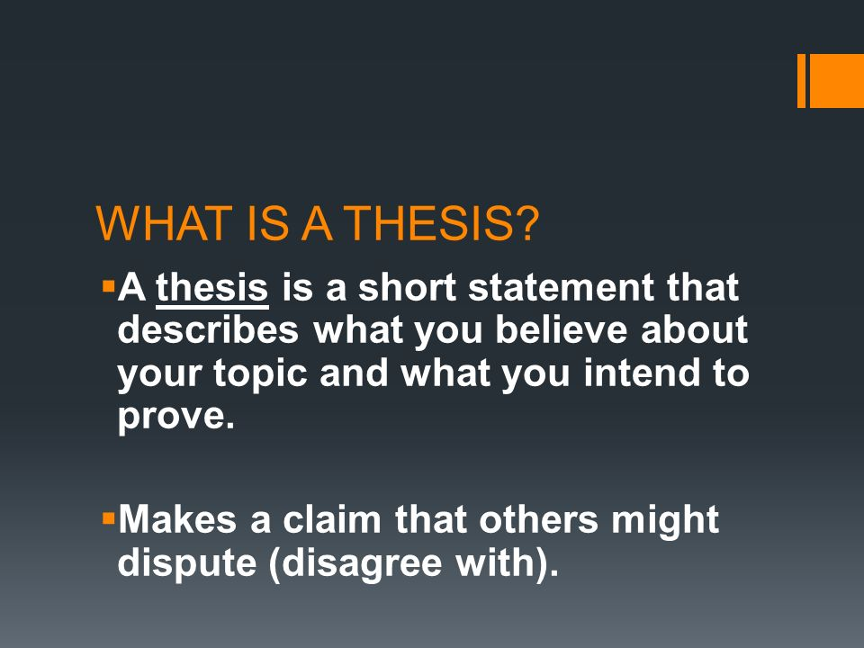 different types of thesis statements