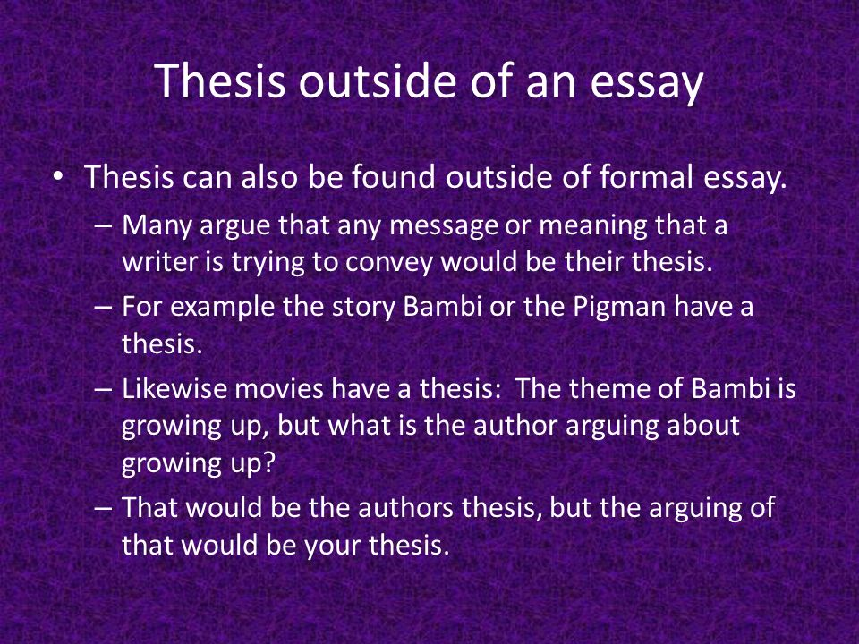 what is a thesis map