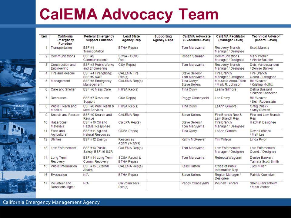 CalEMA Advocacy Team