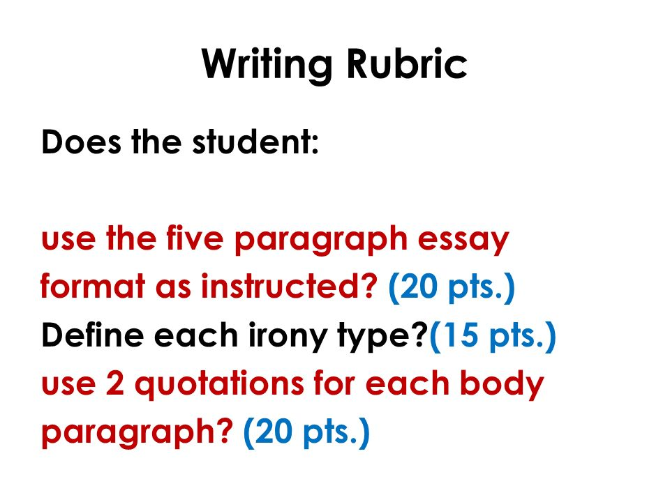 teaching the five paragraph essay structure