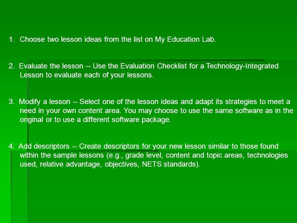 7 Chapter 7 Technology Integration Lesson Planning John Magee John
