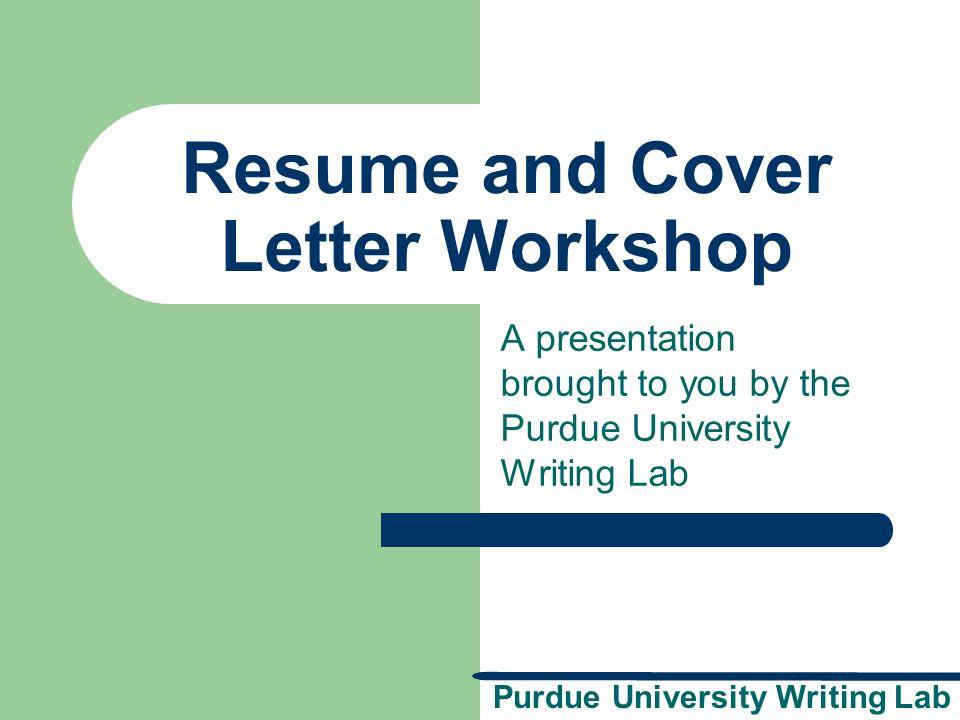 purdue cover letter