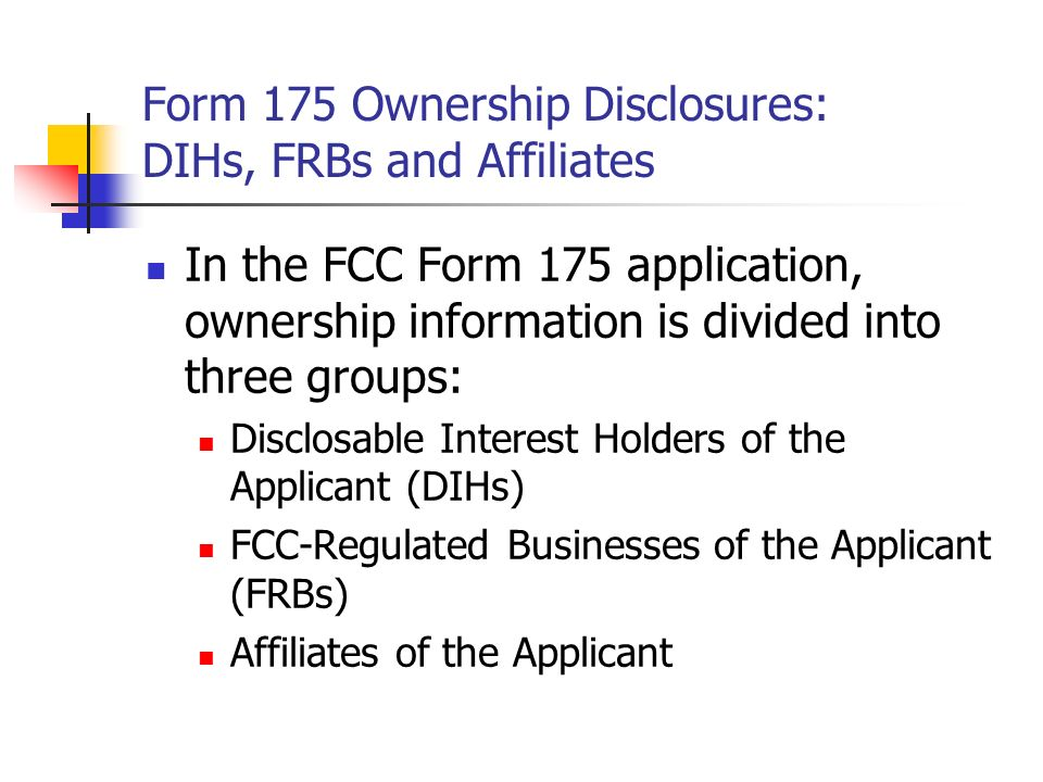 Form 175 And Overview Of Auction Rules 700 Mhz Band Auctions 73