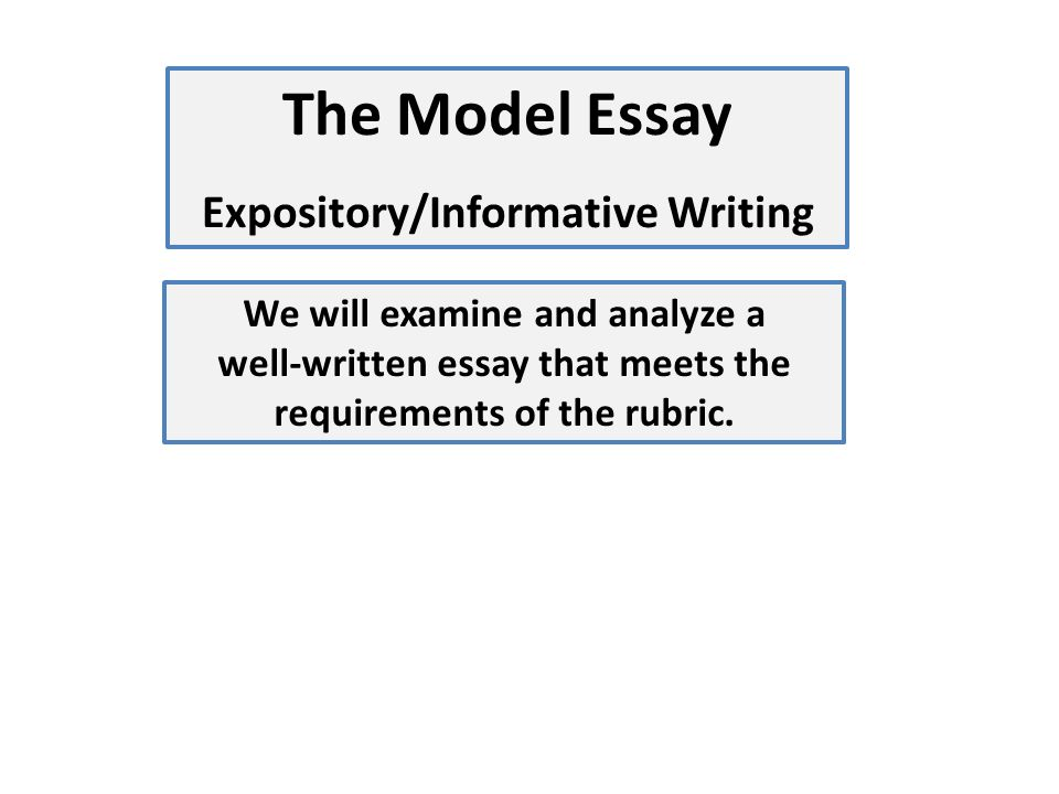 "log in to my hrw com click on ""holt online essay scoring"" ppt  18 the model essay expository informative writing we will examine and analyze a well written essay that meets the requirements of the rubric"