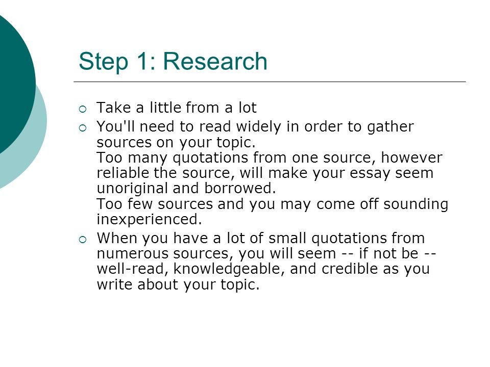10 Steps to Writing An Essay Dow. 10 Steps to Writing the Research ...