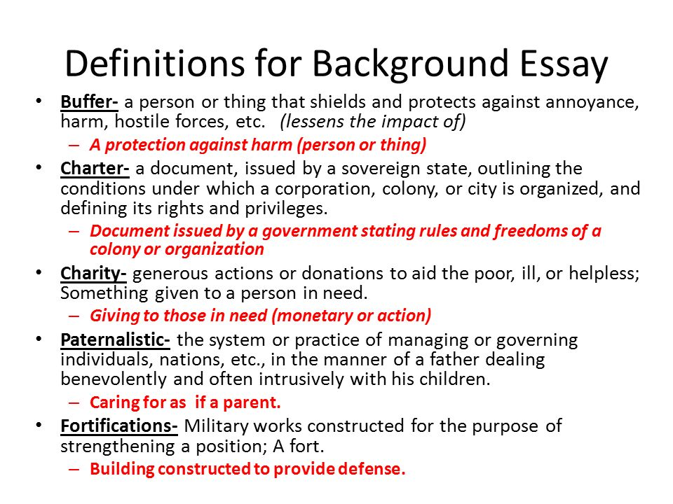 definitions for background essay buffer a person or thing that shields and protects against annoyance. Resume Example. Resume CV Cover Letter