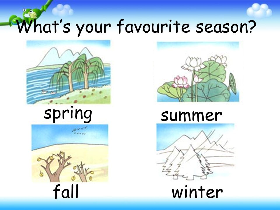 What's your favourite season spring summer fallwinter