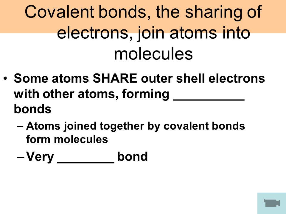 CHEMICAL BONDS. CHEMICAL BONDING I Constructing Molecular Models ...