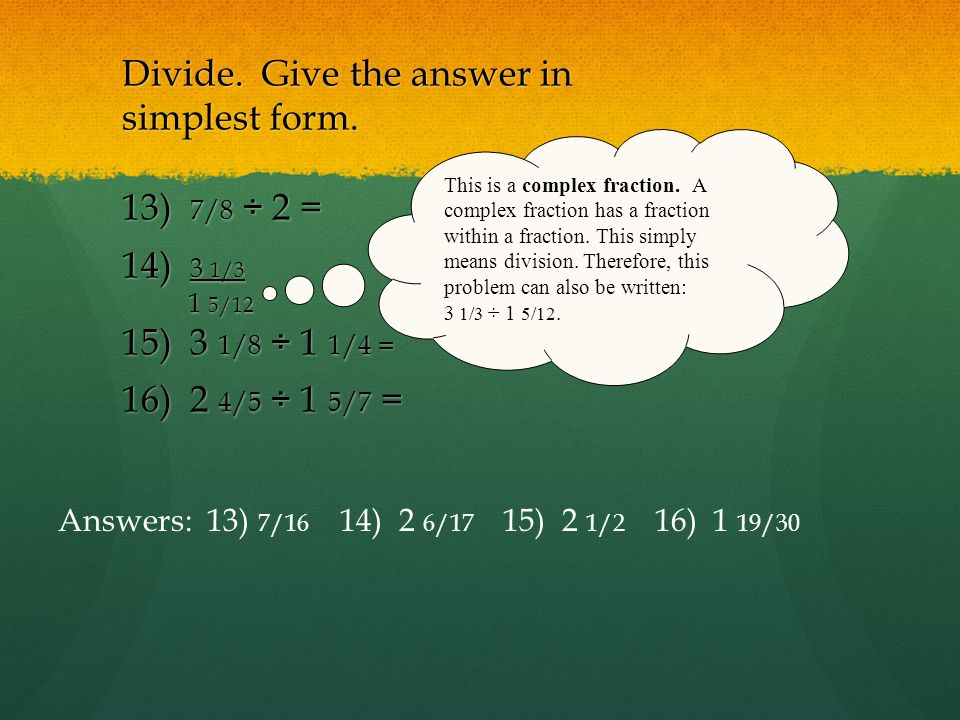 Quarter 2 Test 4 Review XXIII. Equivalent Fractions XXIV. Simplest ...