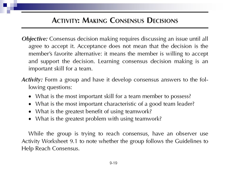 91 Decision Making Chapter Value of Group Decision Making – Decision Making Skills Worksheets