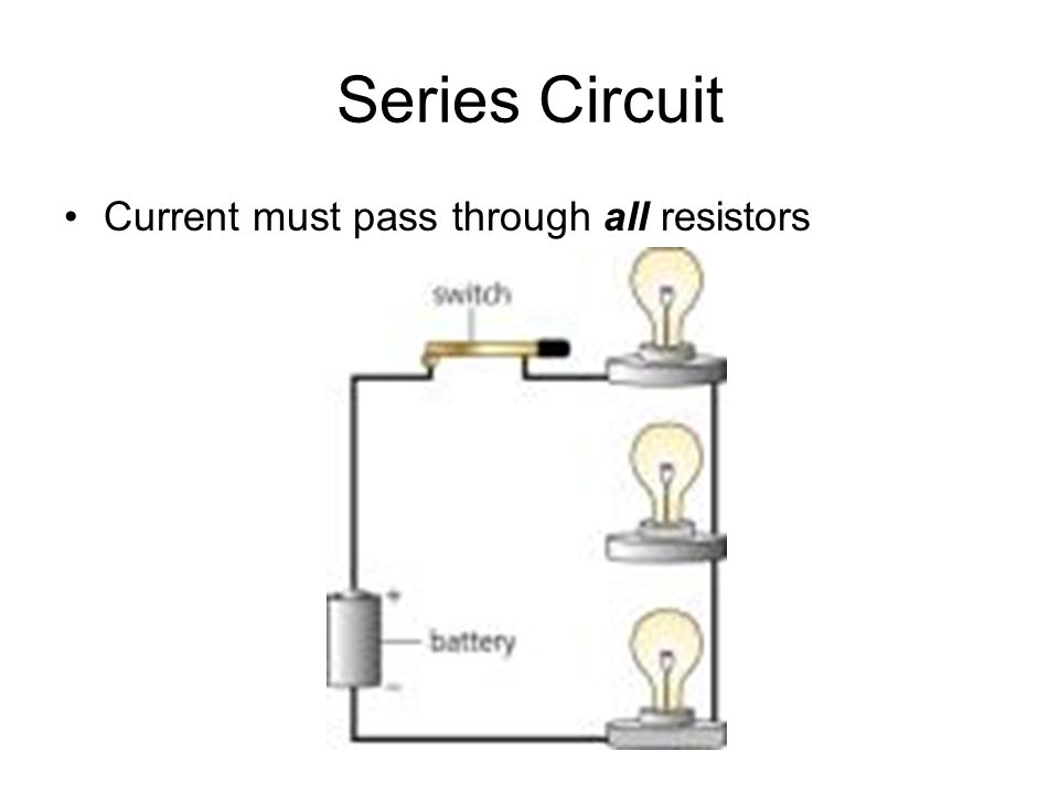 Series Circuit Current must pass through all resistors