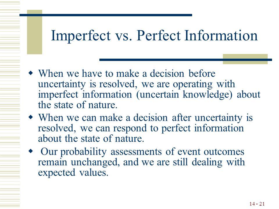 14 - 21 Imperfect vs.