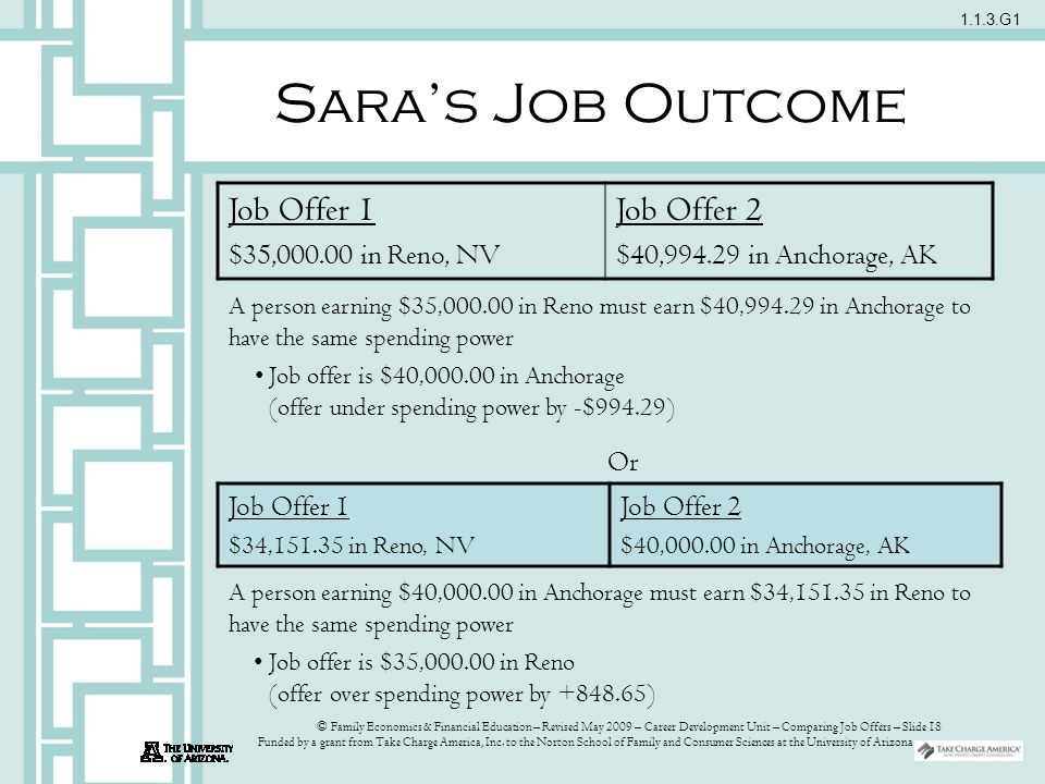 comparing job offers