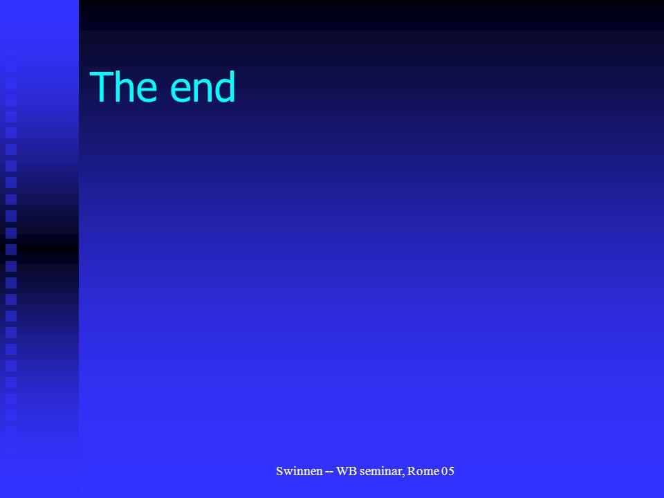 Swinnen -- WB seminar, Rome 05 The end