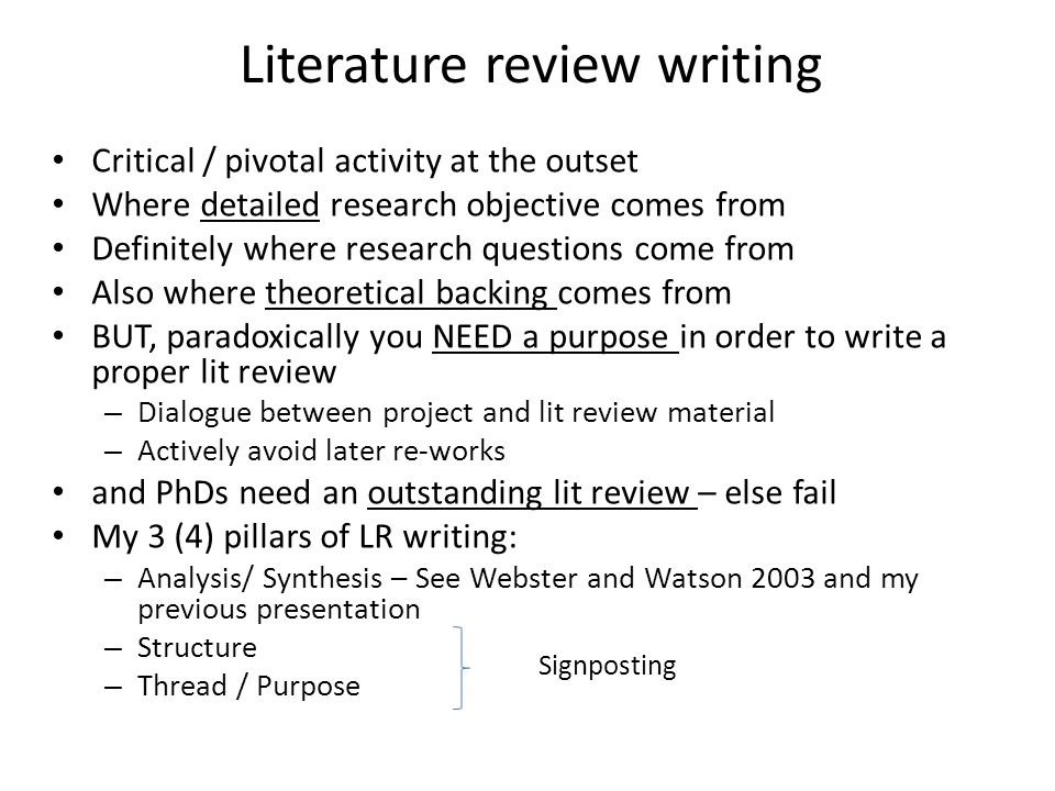 "tips for writing a critical literature review Writing a literature review is an essential component of undergraduate as well as postgraduate studies being ""critical"" within the review of literature is often emphasised in academia yet most students struggle to understand the attributes which constitute a ""critical literature review."