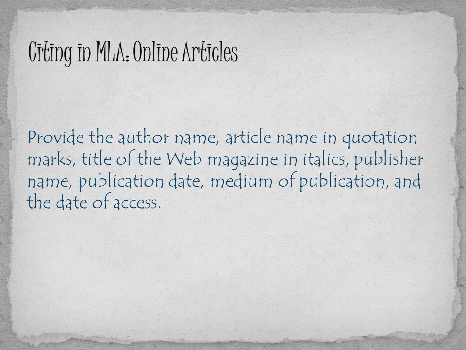 essays quotes italics