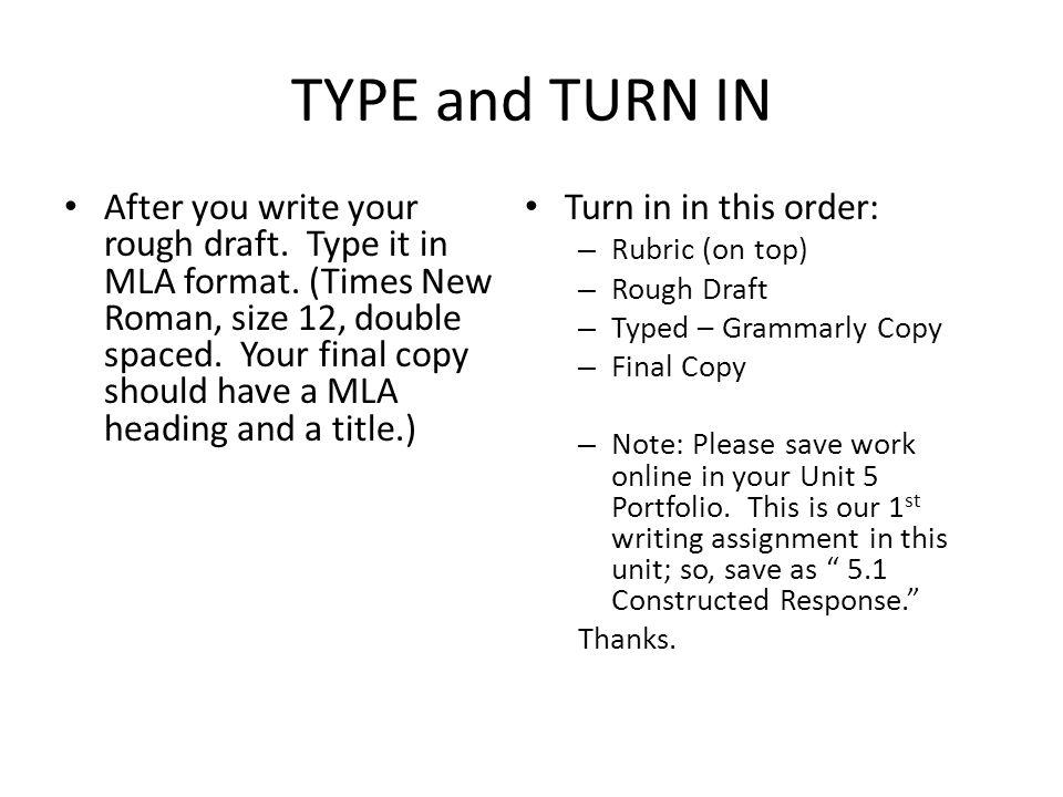subheadings in mla format