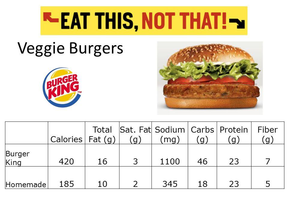 recipe: burger king veggie burger nutrition facts [27]