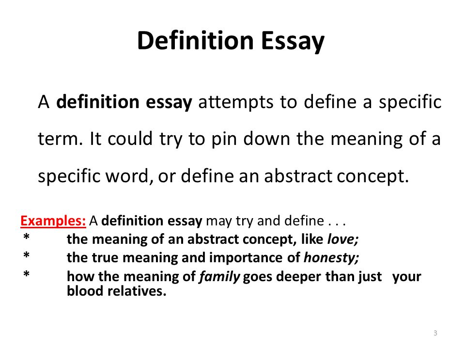write definition essay love