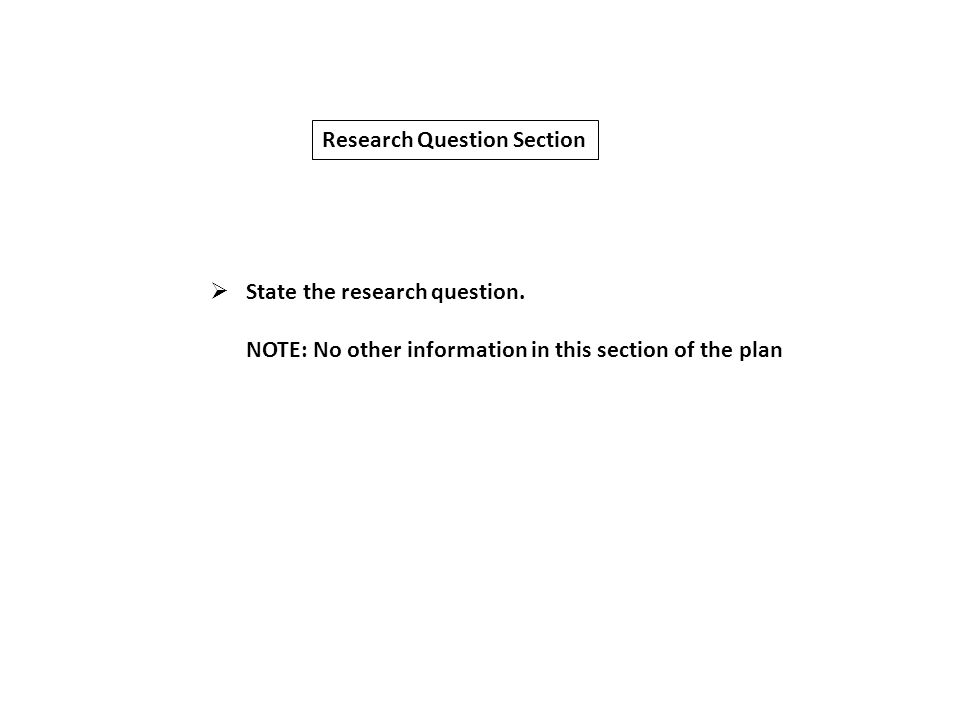 Developing research proposal