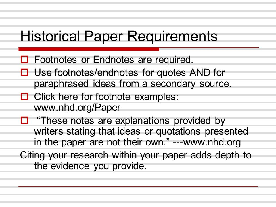 Research paper with footnotes quotes