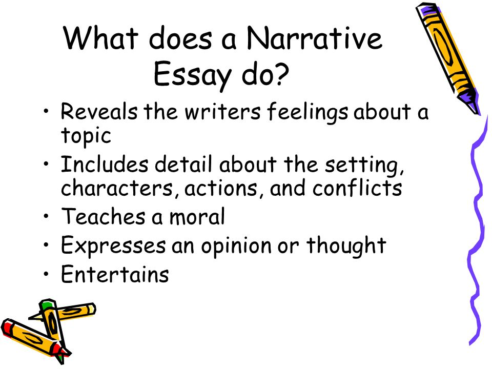 What does a Narrative Essay do.