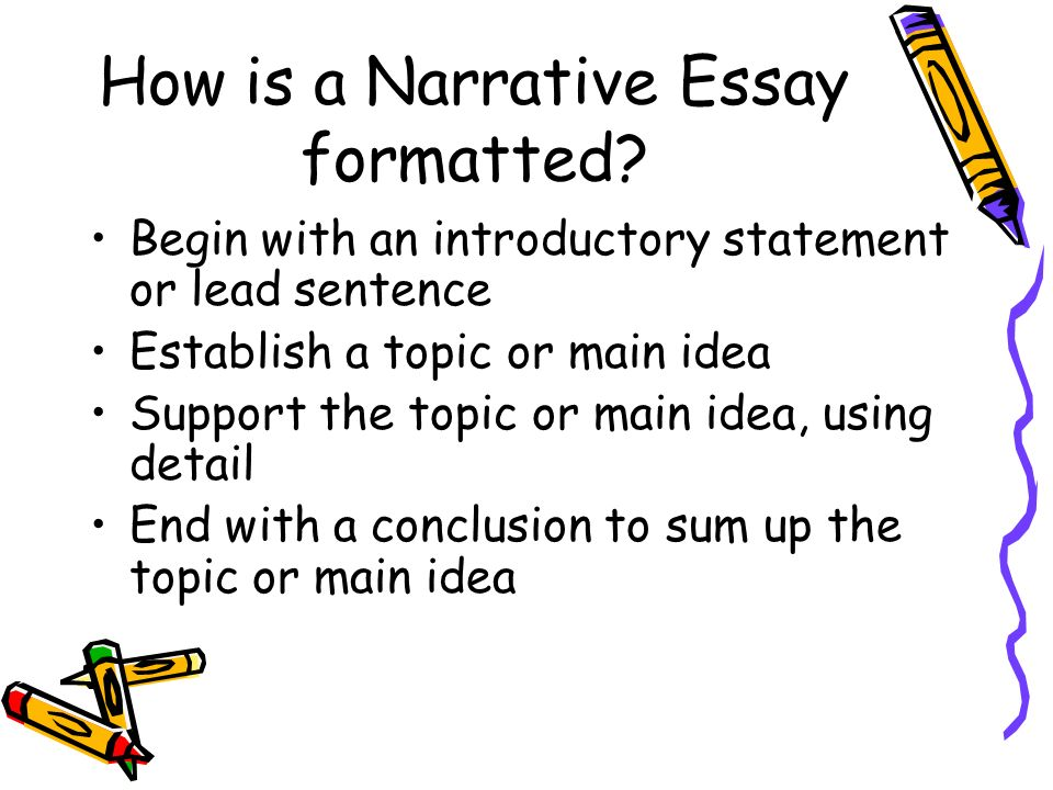 How is a Narrative Essay formatted.