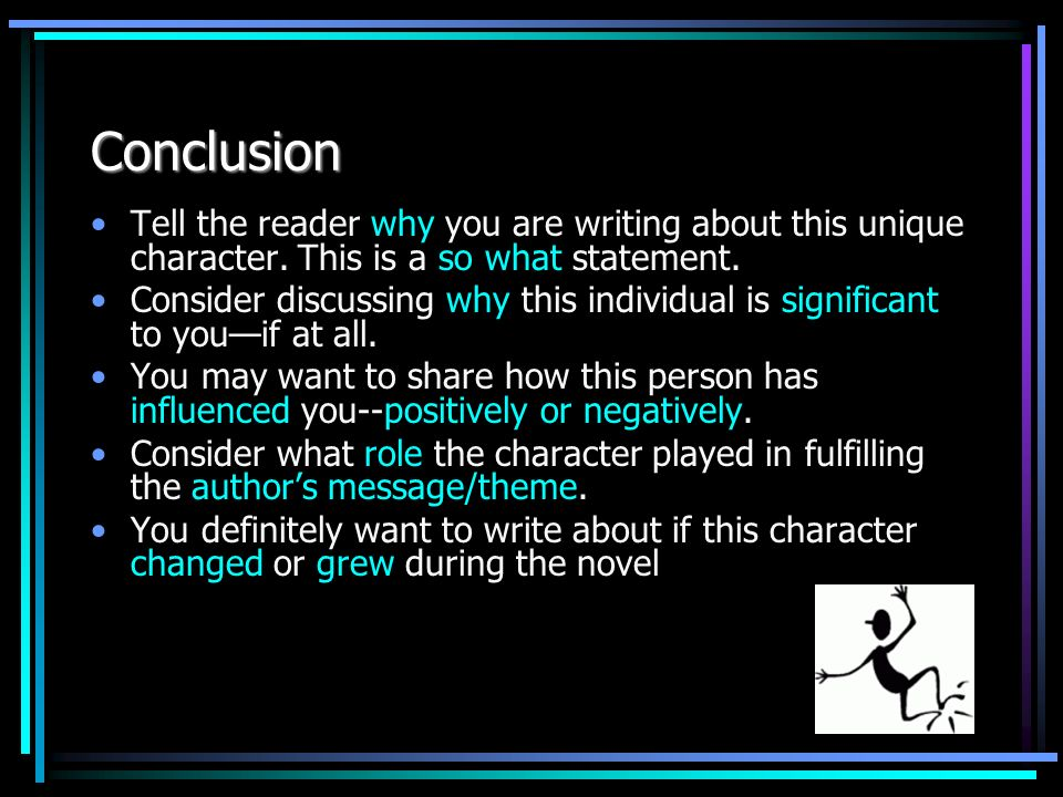 What is a character statement in writing?