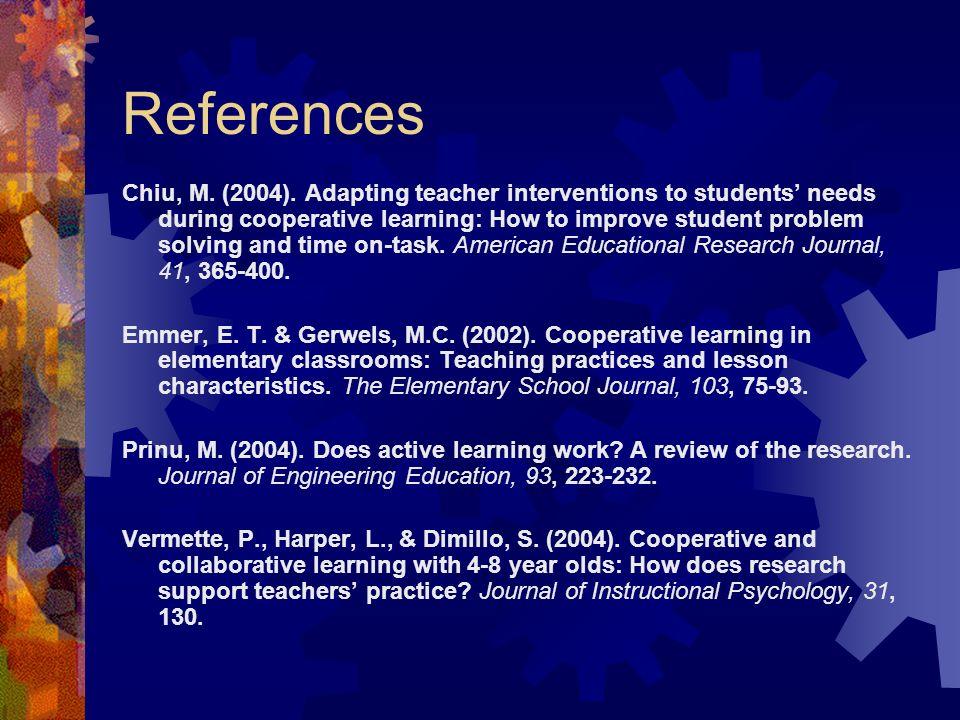 References Chiu, M. (2004).
