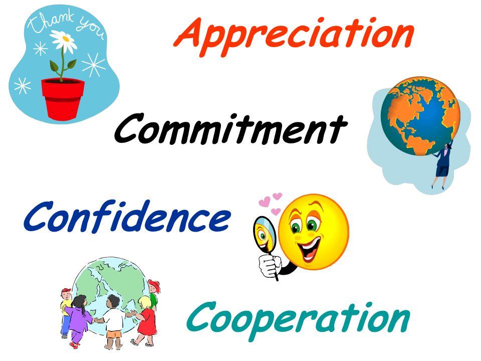 Appreciation Appreciation Commitment Commitment Confidence Confidence Cooperation Cooperation