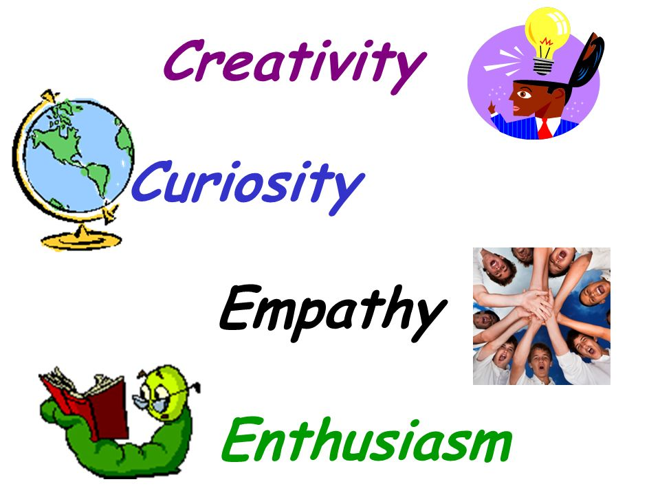 Creativity Creativity Curiosity Curiosity Empathy Empathy Enthusiasm Enthusiasm