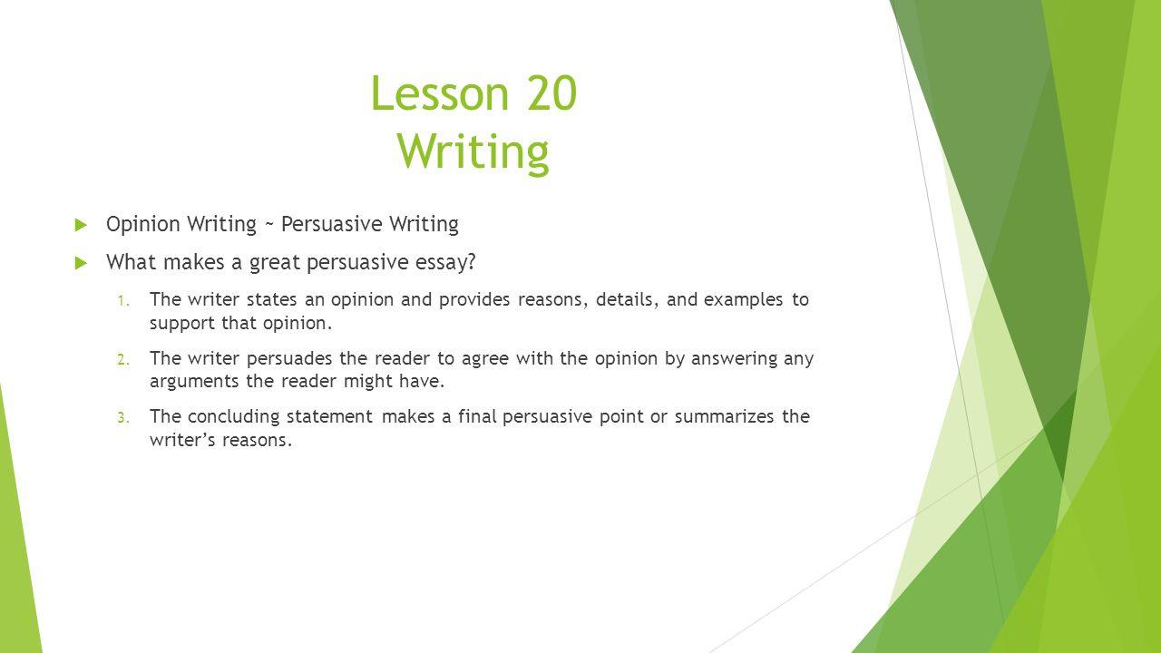 Sample Persuasive Historical Essay