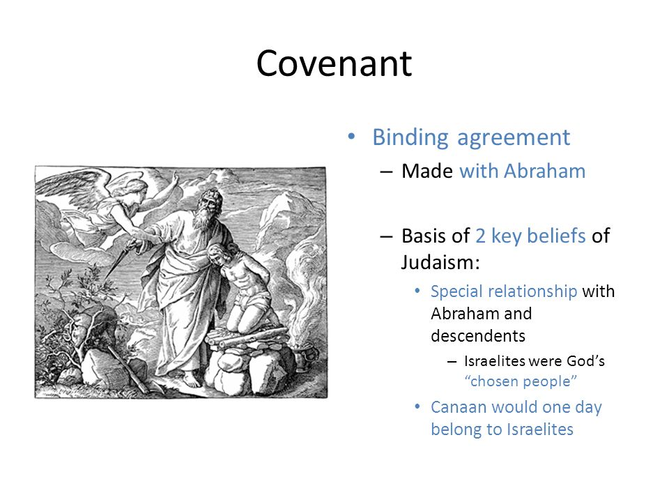 In what way is the covenant with Abraham a reflection on Jewish beliefs and teachings?